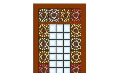 نمونه برش لیزر درب فلزی ساختمان (سنتی ایرانی)